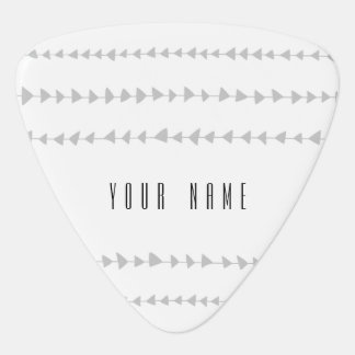 Gray White Aztec Arrows Pattern Plectrum