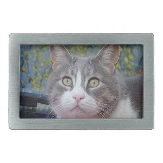 Gray/White Cat Belt Buckle
