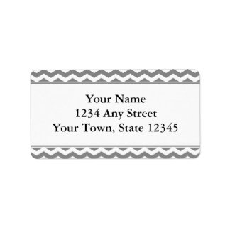 Gray & White Chevron Envelope Address Labels