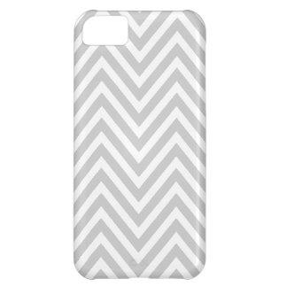 GRAY WHITE CHEVRON PATTERN iPhone 5C CASE