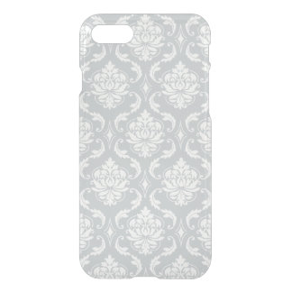 Gray White Classic Damask Pattern iPhone 7 Case