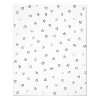 Gray White Confetti Dots Pattern 11.5 Cm X 14 Cm Flyer