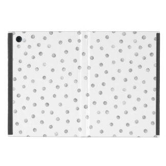 Gray White Confetti Dots Pattern Case For iPad Mini