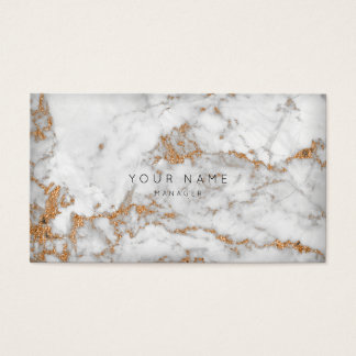 Gray White Copper Rose Gold Marble Vip Appointment Business Card