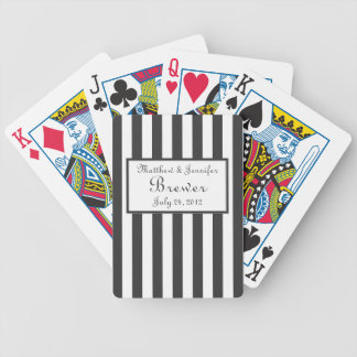 Gray & White Custom Wedding Gift, Favor & Memento Poker Deck