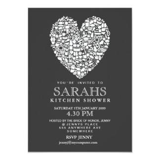 Gray White Kitchen Tea Bridal Shower Party Invite