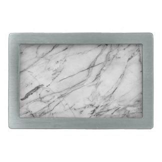 Gray & White Marble Design Belt Buckle