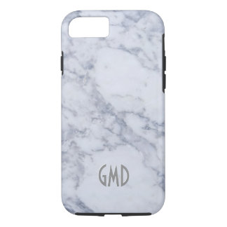 Gray & White Marble Stone Print iPhone 7 Case