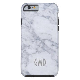 Gray & White Marble Stone Print Tough iPhone 6 Case