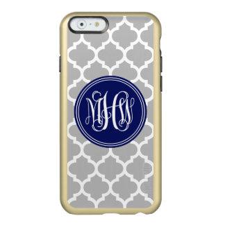 Gray White Moroccan #5 Navy 3 Init Vine Monogram Incipio Feather® Shine iPhone 6 Case