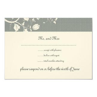 Gray, White on Felt RSVP Cards Custom Invites