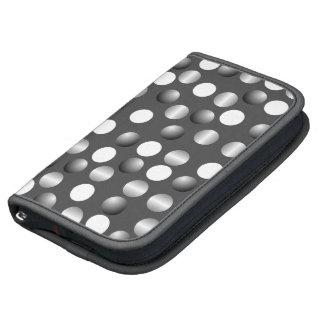 Gray White Polka Dot Folio Smartphone Planner