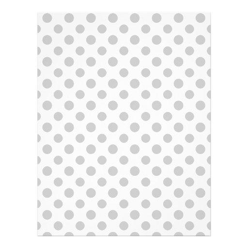 Gray White Polka Dots Pattern Flyers