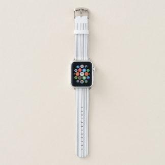 Gray & White Stripe Pattern Apple Watch Band