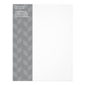 Gray white weave customizable personal letterhead custom flyer