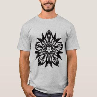 Gray with Black Tribal Symbol Men's T-Shirt