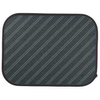 Gray with Double Pin Stripes Rear Car Mat
