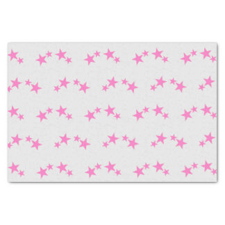 Gray with hot pink stars tissue paper