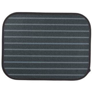 Gray with Thin Light Stripes Rear Car Mat