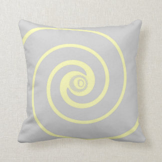 Gray with Yellow Swirl Decor Pillow