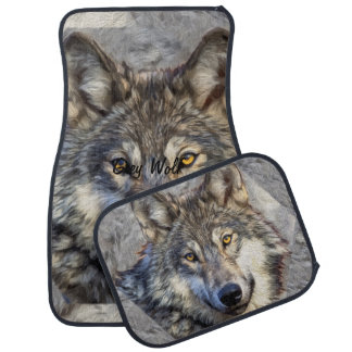 Gray Wolf Dignity Floor Mat