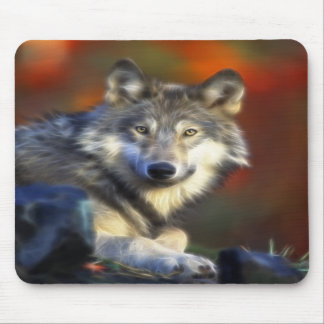 Gray Wolf Endangered Species Digital Photography Mouse Mats