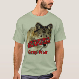 Gray Wolf Endangered Species Products T-Shirt