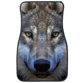Gray Wolf Floor Mat