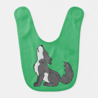 Gray Wolf Pup Howling Bibs