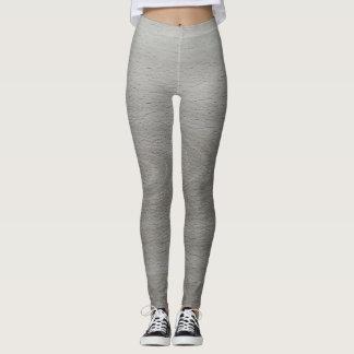 Gray Wood Design Leggings