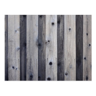 Gray Wood Fence Post Card