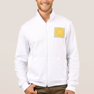 Gray & Yellow Modern Chevron Custom Monogram Jacket