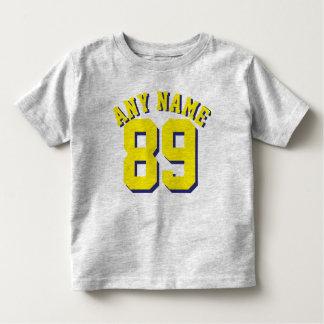 Gray & Yellow Toddler | Sports Jersey Design Toddler T-Shirt
