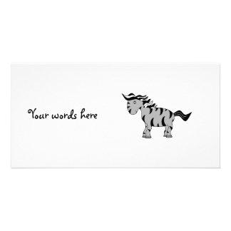 Gray zebra photo greeting card