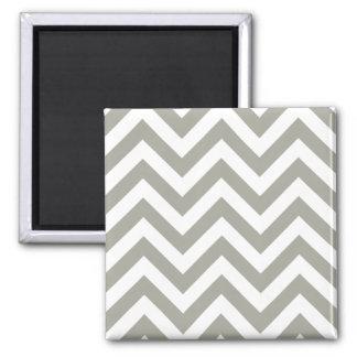 Gray Zig Zag Chevrons Pattern Magnet