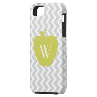 Gray Zigzag Yellow Apple iPhone 5 Case-Mate Case