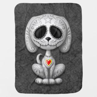 Gray Zombie Sugar Puppy Dog Receiving Blankets