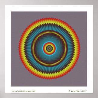 Gray Zone Mandala Poster
