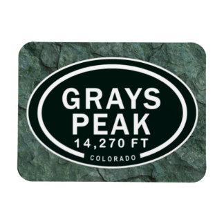 Grays Peak 14,270 FT CO Mountain Magnet