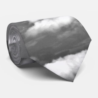 grayscale airplane wings tie