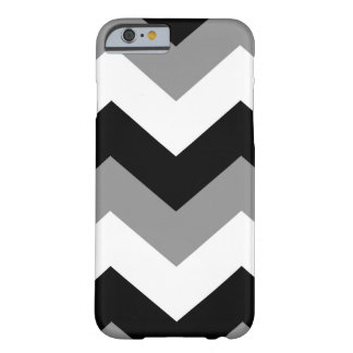 Grayscale Black White Chevron pattern Barely There iPhone 6 Case