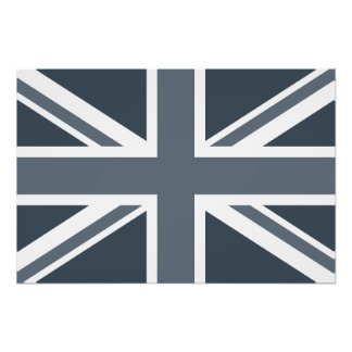 Grayscale England Flag Photo
