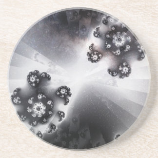 Grayscale Galaxy Coaster