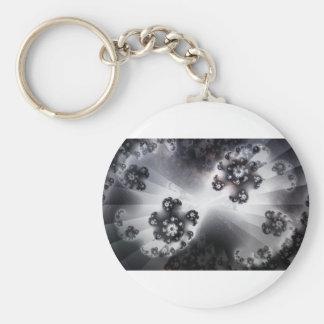 Grayscale Galaxy Key Ring