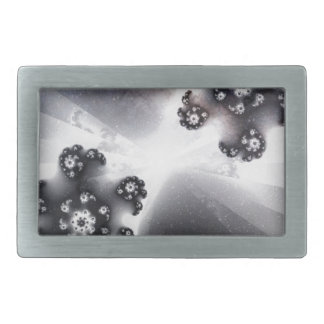 Grayscale Galaxy Rectangular Belt Buckle