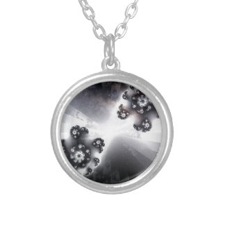 Grayscale Galaxy Silver Plated Necklace