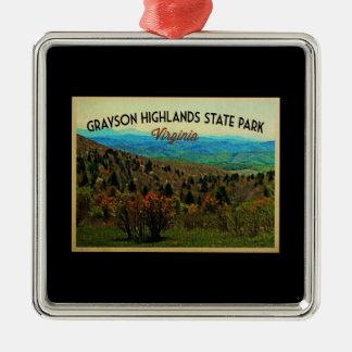 Grayson Highlands Virginia Metal Ornament