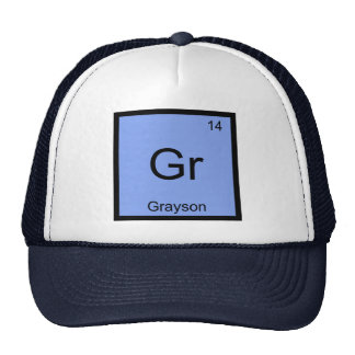 Grayson  Name Chemistry Element Periodic Table Cap