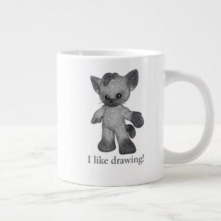 Grayson the Siamese mug I like drawing!