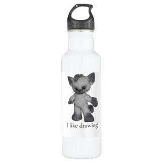 Grayson the Siamese water bottle I like drawing!
